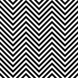 Zig zag background. Chevron pattern. Seamless zig zag background. Chevron pattern in black and white Stock Image