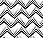 Zig zag black and white geometric seamless pattern, vector backg. Round Royalty Free Stock Photography