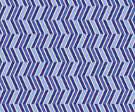 Zig Zag blue seamless pattern Stock Images