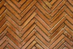 Zig Zag Bricks. Wall detail Royalty Free Stock Photography