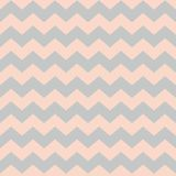 Zig zag chevron pastel pink and grey tile vector pattern Stock Image