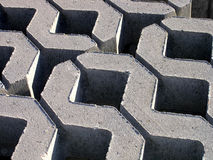Zig-Zag Concrete Building Blocks Royalty Free Stock Image