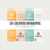 Zig Zag Divide Infographic Royalty Free Stock Photo