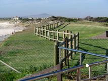 Zig Zag Fences. At the beach front Royalty Free Stock Images