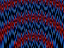 Zig Zag Fractal. Abstract blue and red futuristic fractal for backgrounds. Zig-zag theme Stock Photos