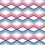 Zig zag geometric pattern, vector retro style background. Stock Photo