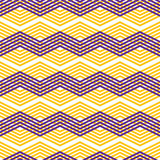Zig zag geometric pattern, vector retro style background. Royalty Free Stock Photography