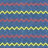 Zig-zag jeans background. Seamless Royalty Free Stock Photo