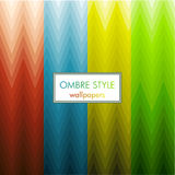 Zig zag ombre style wallpaper set Stock Images