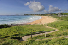 Zig Zag path to Bombo Beach Australia Stock Image