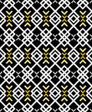 Zig zag pattern in black and white Royalty Free Stock Photography