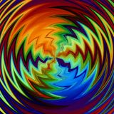 Zig Zag Patterns Radial Colors Royalty Free Stock Photography
