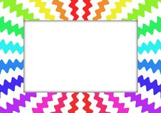 Zig Zag Rainbow Frame royalty free stock photo