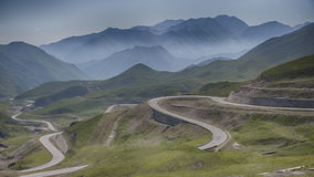 Zig Zag Road Highway during Daytime Royalty Free Stock Photos