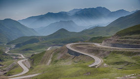 Zig Zag Road Highway during Daytime Royalty Free Stock Photography