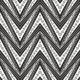 Zig zag ethnic pattern in black and white Royalty Free Stock Photo