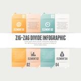 Zig Zag skiljelinje Infographic Royaltyfri Foto