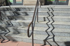Zig zag stair shadow Stock Photography