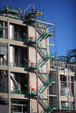 Zig Zag steps up the side of a refinery. Or industrial building Royalty Free Stock Image