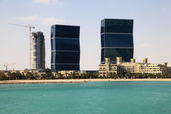 Zig Zag towers in Doha, Qatar Stock Photo