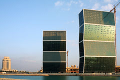 Zig-zag towers in Doha, Qatar Royalty Free Stock Photography