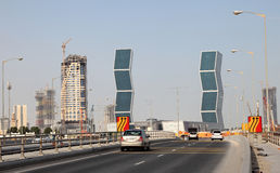 Zig Zag towers in Doha, Qatar Royalty Free Stock Photos