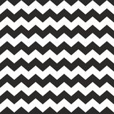 Zig zag vector chevron black and white tile pattern. For seamless decoration wallpaper background Stock Photo