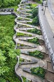 Zig Zag Walkway. In downtown Chattanooga, Tennessee Stock Photography