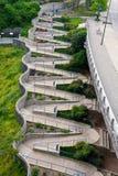 Chattanooga Walkway. The zig-zag walkway of riverfront, Chattanooga, Tennessee Stock Photos