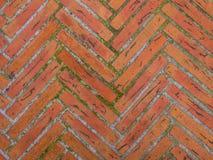 Zig Zag Wall. Zig Zag Bricks Wall on rusty background Royalty Free Stock Images