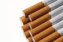 Zigarette filtert Hintergrund, Abschluss oben Lizenzfreie Stockfotografie