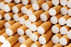Zigarette filtert Hintergrund, Abschluss oben Lizenzfreies Stockbild
