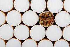 Zigarette ohne Filter Stockbild
