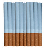 10 Zigaretten Lizenzfreie Stockfotos