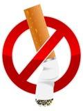 Zigarettenkippe stock abbildung
