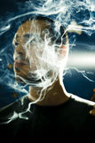 Zigarettenrauch lizenzfreie stockfotografie