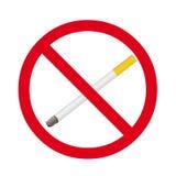 Zigarettenstoppschild Lizenzfreie Abbildung