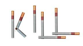 Zigarettentötung Stockfotografie