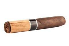 Zigarre auf dem Weiß Lizenzfreies Stockbild