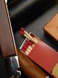 Zigarre und Abgleichungen Lizenzfreie Stockfotografie