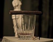 Zigarre und Whisky Stockbild