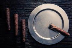 Zigarrenzusammensetzung Stockfotos