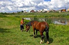 Zigensk bosättning. royaltyfri foto