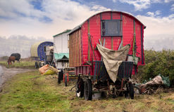 Zigeuner Vardo Stockfotografie