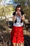 Zigeunerfrau 6 Stockfoto