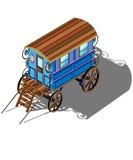 Zigeunerlastwagen stock abbildung