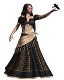 Zigeunermädchen mit einem Vogel Stockfoto