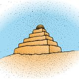 ziggurat вектора Стоковая Фотография RF
