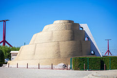 Ziggurat - Babel look-out  tower. In front of the Palace of Arts, next to the National Theater, Budapest Stock Image