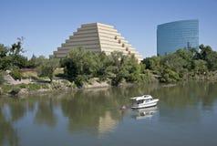 The Ziggurat building and the Sacramento river. Stock Photography